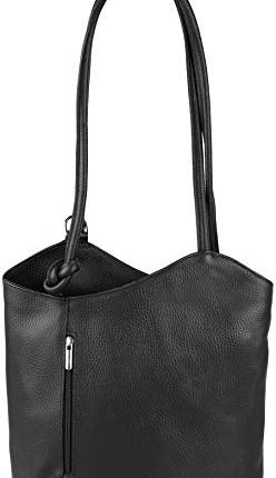 """95e08fb2a8741 ... """"Ashley"""" 2in 1 Rucksack und Handtasche aus sehr weichem Echt-Leder Made  in Italy"""