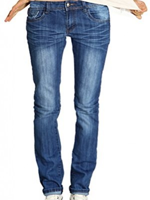 only damen jeanshose lang regular fit auto low str 15048028 gr 25 32 blau denim besten mode. Black Bedroom Furniture Sets. Home Design Ideas