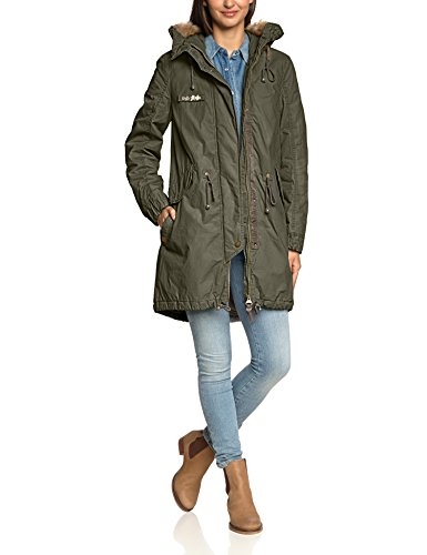 pin camel active damen parka jacke 320670 8 45 gr 44 blau navy 40 on. Black Bedroom Furniture Sets. Home Design Ideas