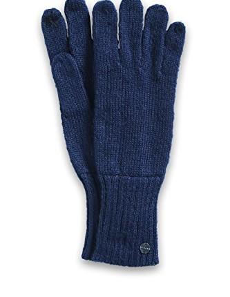 7b5115ec1077a4 ESPRIT Damen Handschuhe mit Blümchen, Einfarbig, Gr. One size, Blau ...