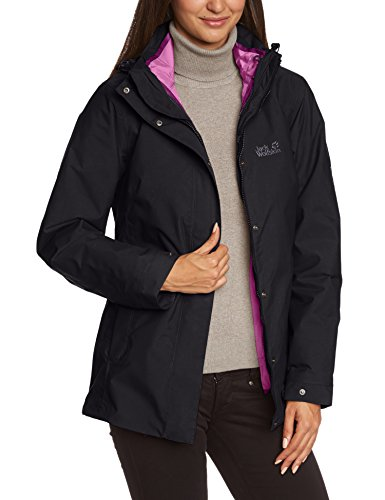 jack wolfskin damen 3in1 jacke vernon jacket women black. Black Bedroom Furniture Sets. Home Design Ideas