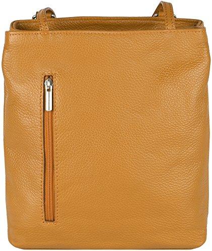 """e1ae4715eee76 """"Polly"""" 2in 1 Rucksack und Handtasche aus sehr weichem Echt-Leder Made in  Italy (One Size"""